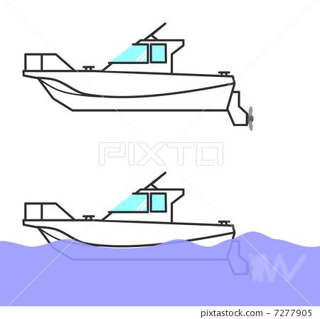 划船摄影矢量图