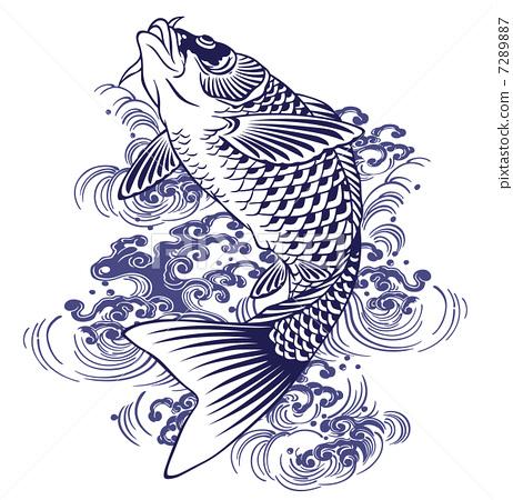 鲤鱼剪纸图案