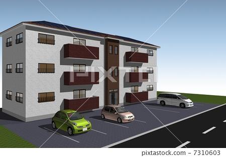 插图: 社区 太阳能板 房屋