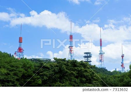 天线杆 无线电塔 电视