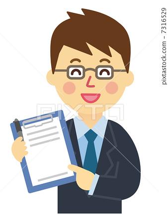 职业_上班族 商务人士 商务人士 问卷 调查 评价表  *pixta限定素材仅