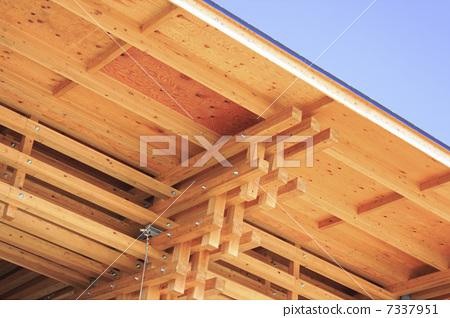 屋顶 木框 木结构