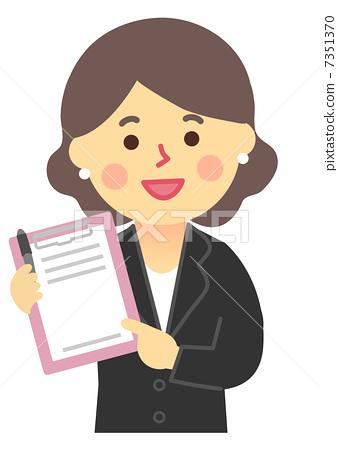 插图 职业_上班族 商务人士 商务人士 规划师问卷  *pixta限定素材仅