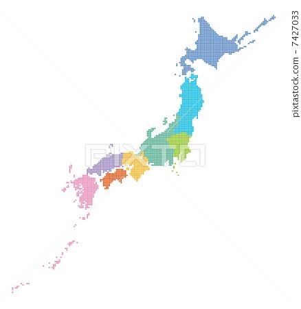 点 日本地图 日本
