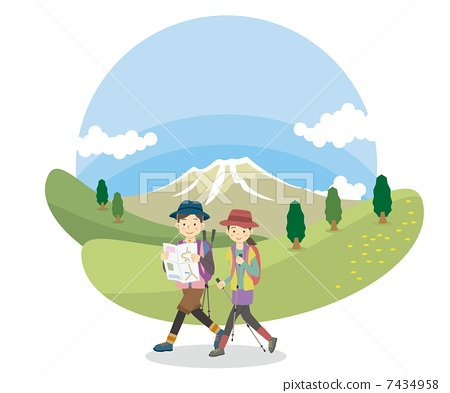 人物 徒步旅行 爬山
