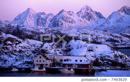 雪景 冬天景色 北欧图片