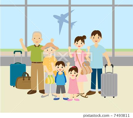 插图 休闲_爱好_游戏 爱好 旅行 旅途 旅行 家庭旅行  *pixta限定素材