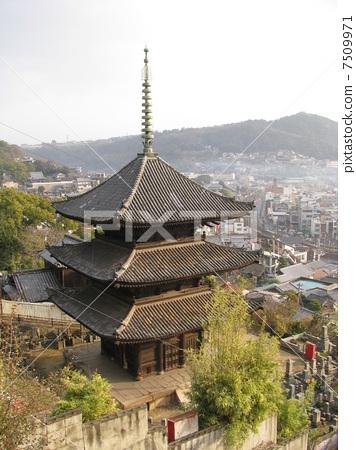 旧寺庙 三层塔 尾道