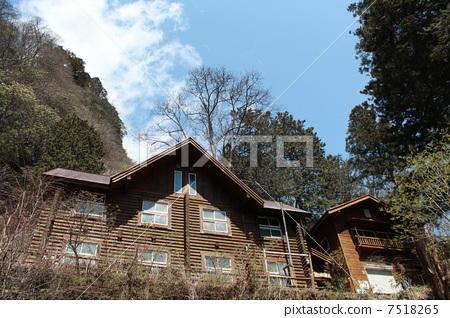 图库照片: 山野中的小木屋 秩父 绿色