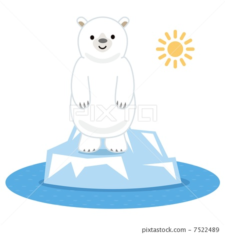 北极熊 站立 可爱