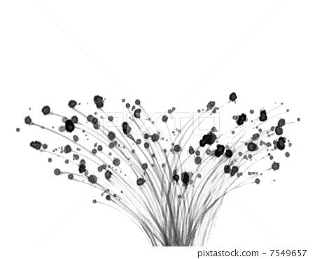 图库插图: 毛笔绘画 图案 样式