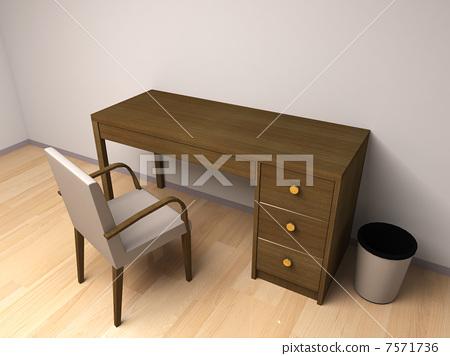 插图素材: 椅子 桌子 办公桌