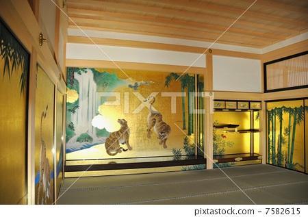 图库照片: 房间分隔墙上的图片 名古屋城堡 尾张分公司