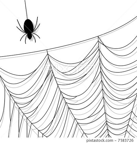 蜘蛛网简笔画图片-房子简笔画图片大全/桃花树简笔画