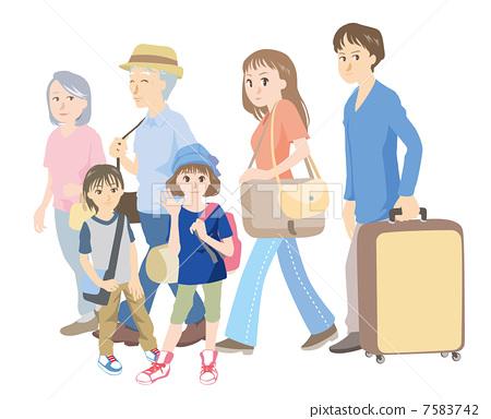 插图 休闲_爱好_游戏 爱好 旅行 家庭旅行 旅途 旅行  *pixta限定素材