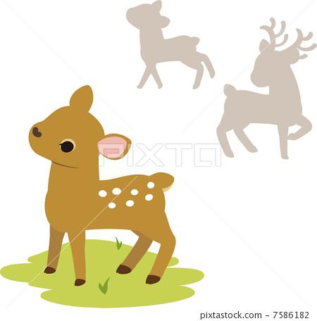 矢量图 矢量 小鹿