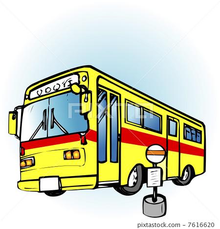 插图: 车辆 本地公共汽车 低音