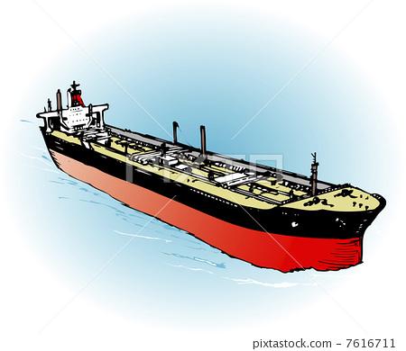 插图素材: 交通工具 货船 货轮