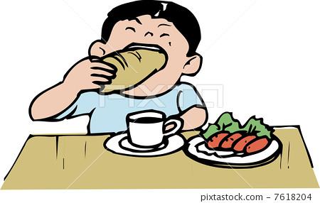 插图素材: 午餐 午饭 学校午餐