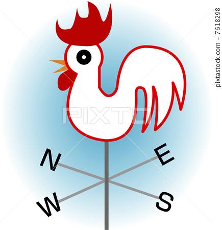 插图素材: 风向标 风标 家禽