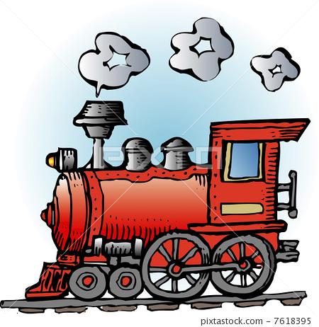 插图素材: 蒸汽机车 火车 列车