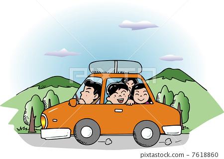 插图素材: 驾车 驾驶 开车