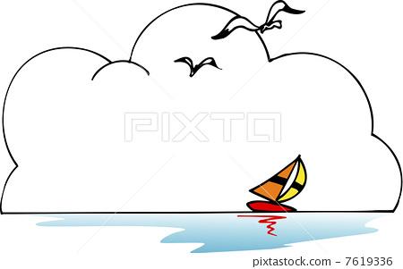 钦州三娘湾海豚海鸥舞大海_乐乐简笔画