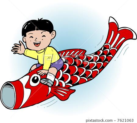 儿童节 日本鲤鱼状风向标