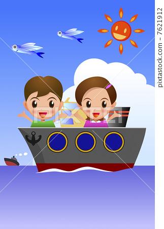 儿童 划船 孩子