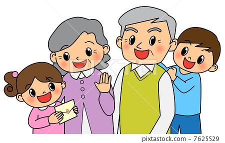 插图素材: 敬老日 矢量 祖父