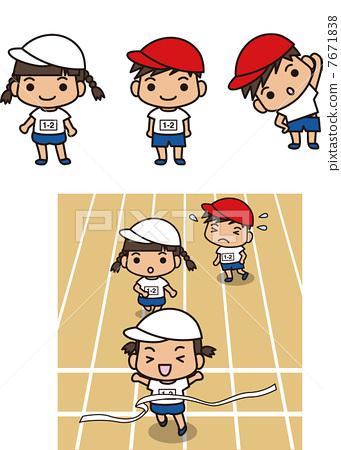 图库插图: 竞走 赛跑 矢量