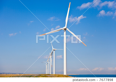 风车 风力涡轮机 风能发电机图片