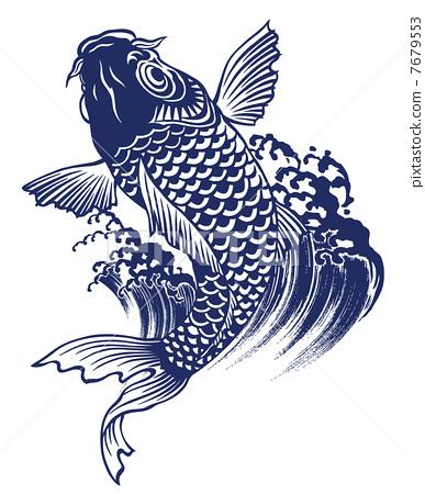 鲤鱼剪纸步骤图解