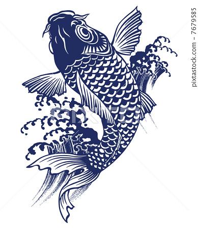 图库插图: 鲤鱼 矢量 鱼