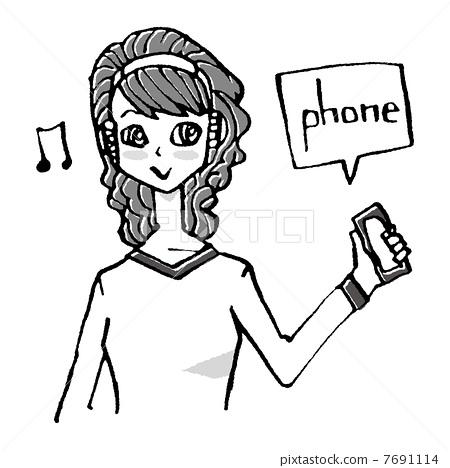 电话机 stock 插图 - pixta