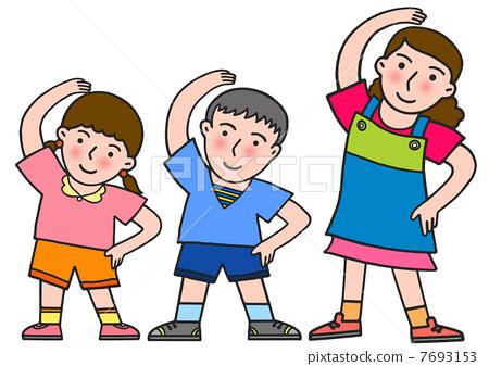 人物 女性 中年妇女 插图 练习 运动 锻鍊 首页 插图 人物 女性 中年