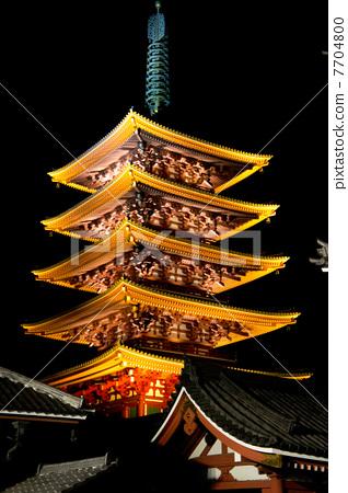 五层塔 庙宇 寺院