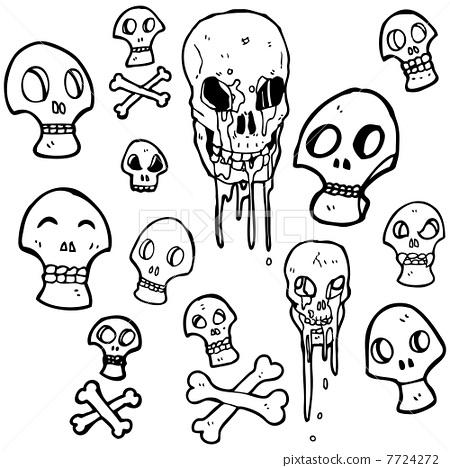 骷髅身体画法步骤