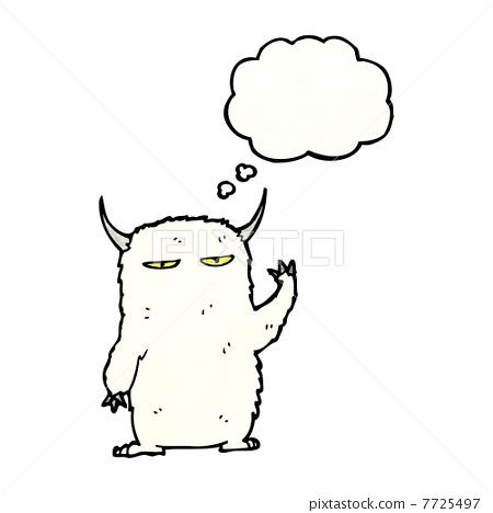 怪物卡通简笔画