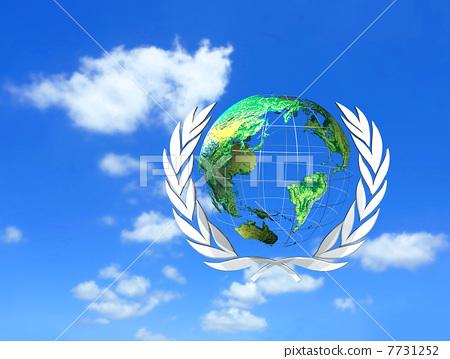 插图 背景/小物 小物 图标 联合国 痕迹 标记  *pixta限定素材仅在
