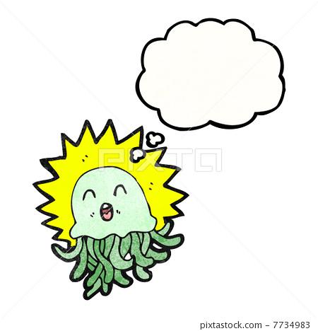 水母 可爱 stock 插图