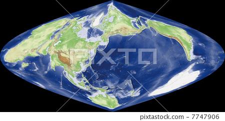 世界地图 轮廓 美国