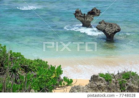 海滩 古宇利岛 冲绳县