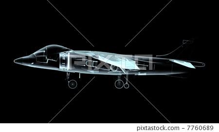 飞机 客用飞机 黑色背景