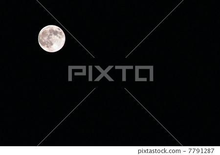 月亮 满月 闪闪发光的