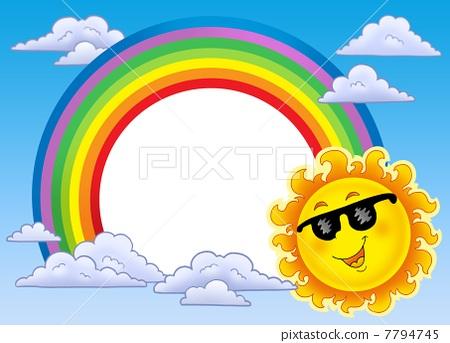 夏天的云 太阳