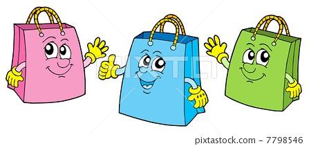 包装 包装设计 动漫 购物纸袋 卡通 漫画 头像 纸袋 450_211