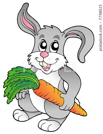 兔子 矢量图 stock 插图