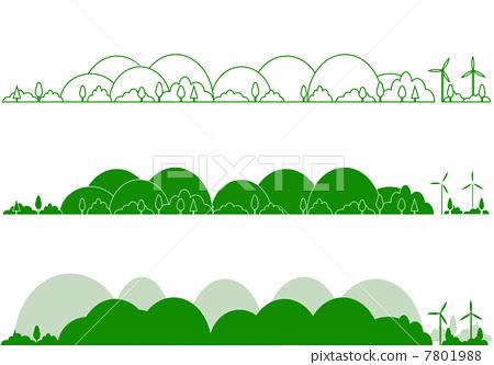 插图素材: 山 矢量 堆