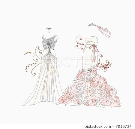 彩色的裙子 裙子